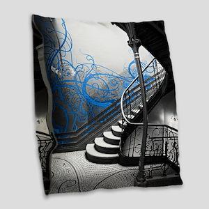 Gothic Staircase Burlap Throw Pillow