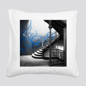 Gothic Staircase Square Canvas Pillow