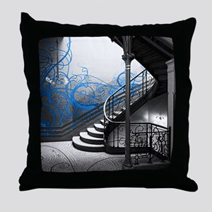 Gothic Staircase Throw Pillow