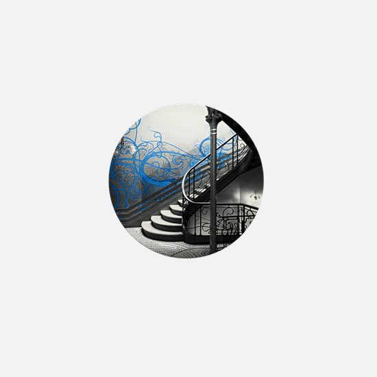 Gothic Staircase Mini Button