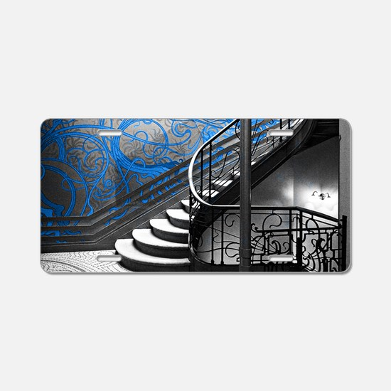 Gothic Staircase Aluminum License Plate