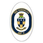 USS Coronado (AGF 11) Oval Sticker