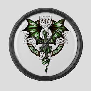 Celtic Dragon Large Wall Clock