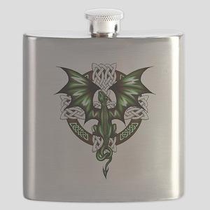 Celtic Dragon Flask