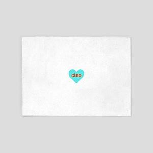 Ciao heart 5'x7'Area Rug