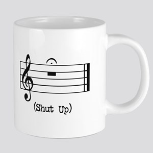 Shut Up (in musical notation) Mugs
