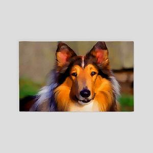 Collie Dog Area Rug