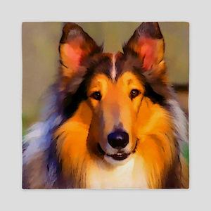 Collie Dog Queen Duvet
