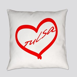 Heart Of Tulsa Everyday Pillow
