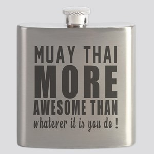 Muay Thai More Awesome Martial Arts Flask