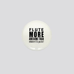 Flute More Awesome Instrument Mini Button