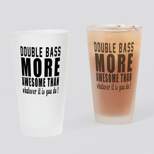 Double bass More Awesome Instrument Drinking Glass