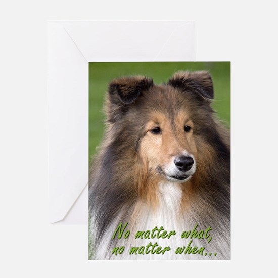 Sheltie Love/Support Card