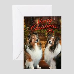 Merry Christmas Shelties Card