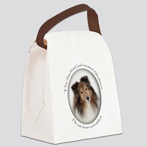 Sheltie Canvas Lunch Bag
