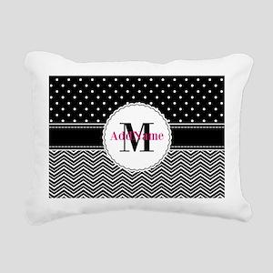 Polka Dots Chevron Patte Rectangular Canvas Pillow