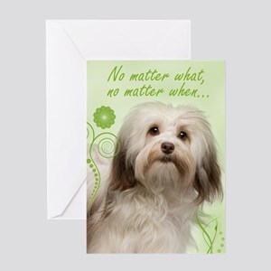 Havanese Love Or Support Greeting Cards