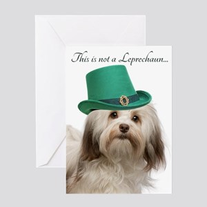 Funny Havanese St. Patrick's Day Greeting Card