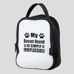 Basset Hound is simply irreplac Neoprene Lunch Bag