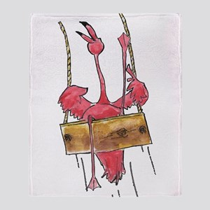 Swinging Flamingo Throw Blanket