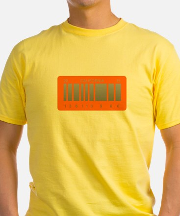 Back to the future barcode license plate T-Shirt