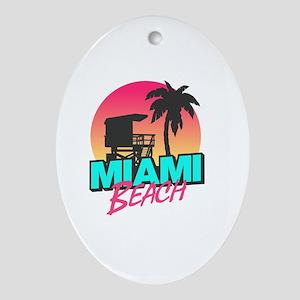 Miami beach Oval Ornament