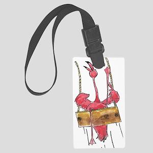 Swinging Flamingo Large Luggage Tag