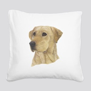 Yellow Lab Square Canvas Pillow