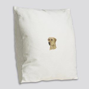 Yellow Lab Burlap Throw Pillow