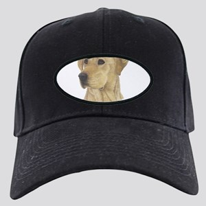 Yellow Lab Black Cap