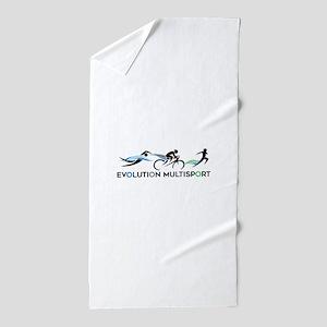 Evolution Black Lettering Beach Towel