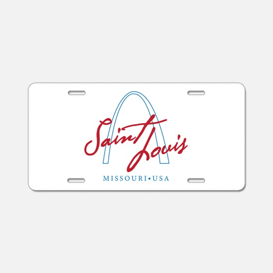 Cute Saint louis Aluminum License Plate