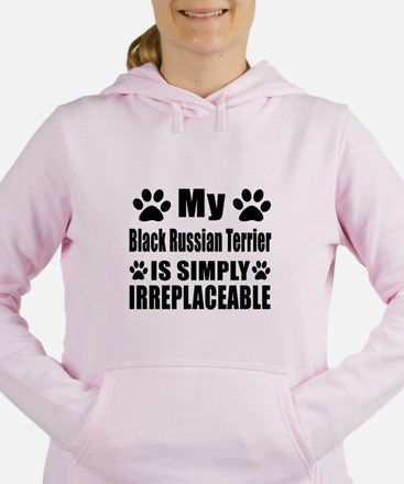 Black Russian Terrier is Women's Hooded Sweatshirt