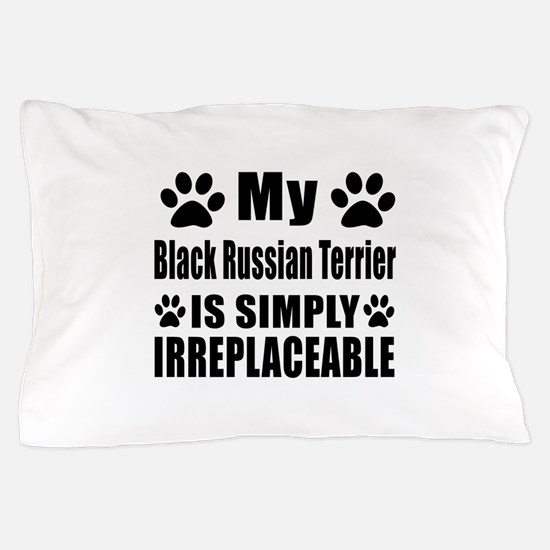 Black Russian Terrier is simply irrepl Pillow Case
