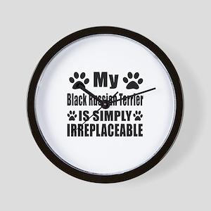 Black Russian Terrier is simply irrepla Wall Clock