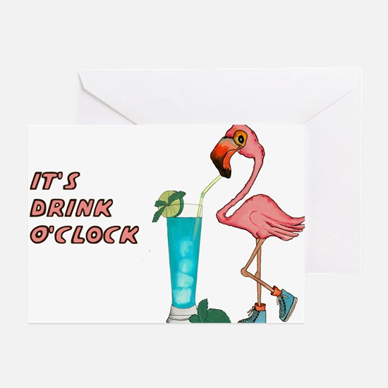 It's Drink O'Clock Greeting Cards