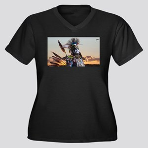 Native American Crow Warrior Plus Size T-Shirt