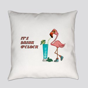 It's Drink O'Clock Everyday Pillow