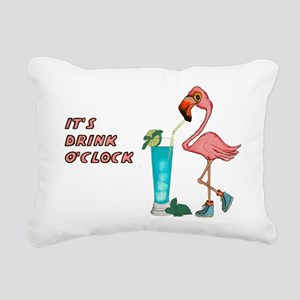 It's Drink O'Clock Rectangular Canvas Pillow