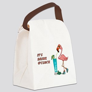 It's Drink O'Clock Canvas Lunch Bag