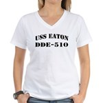 USS EATON Women's V-Neck T-Shirt