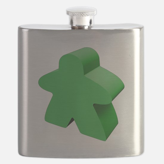Green Meeple Flask