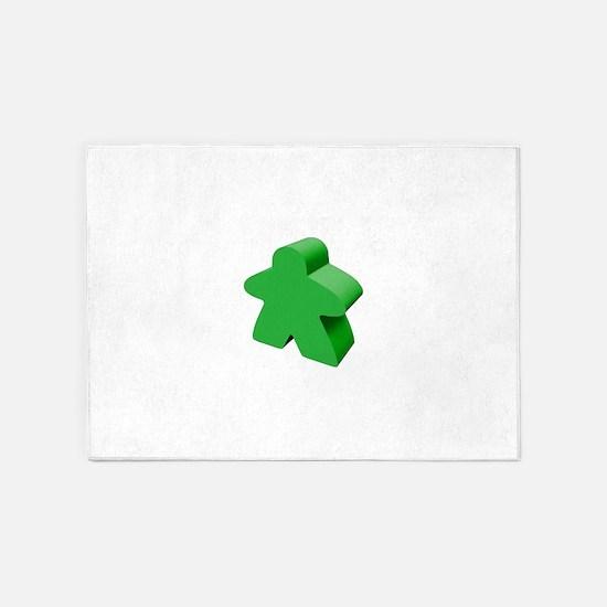 Green Meeple 5'x7'Area Rug