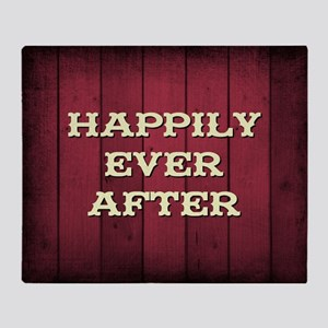 HAPPILY EVER AFTER Throw Blanket