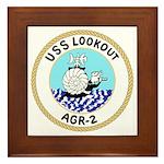USS Lookout (AGR 2) Framed Tile