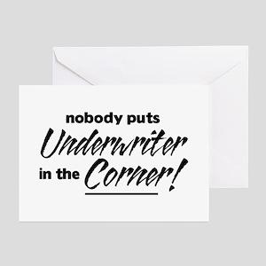 Underwriter Nobody Corner Greeting Cards
