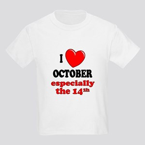 October 14th Kids Light T Shirt