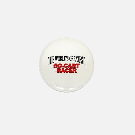 """""""The World's Greatest Go-Cart Racer"""" Mini Button"""