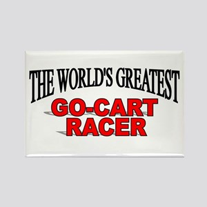 """The World's Greatest Go-Cart Racer"" Rectangle Mag"