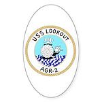 USS Lookout (AGR 2) Oval Sticker